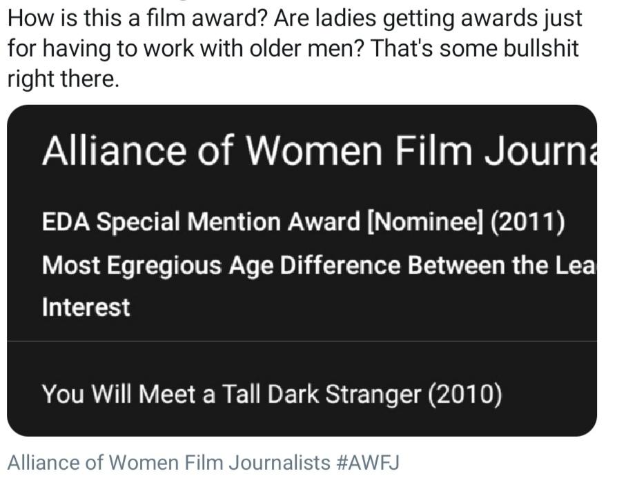 Do actors get awards for having to snog Maggie Smiff? - meme