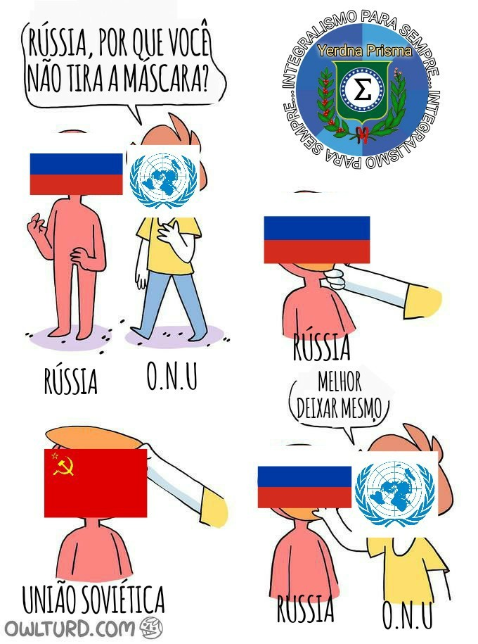 ONU e Rússia - meme