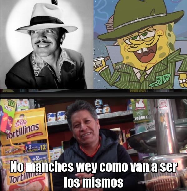 Germán Valdés (Tintán) Y Bob Esponja choclo - meme