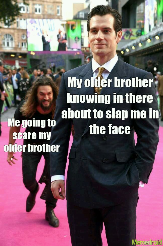 The little brother with a berd - meme