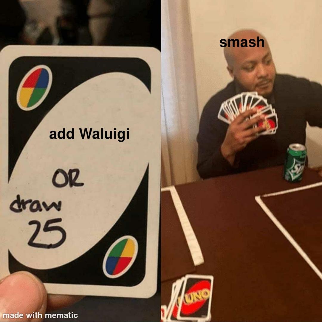 Waluigi is god - meme