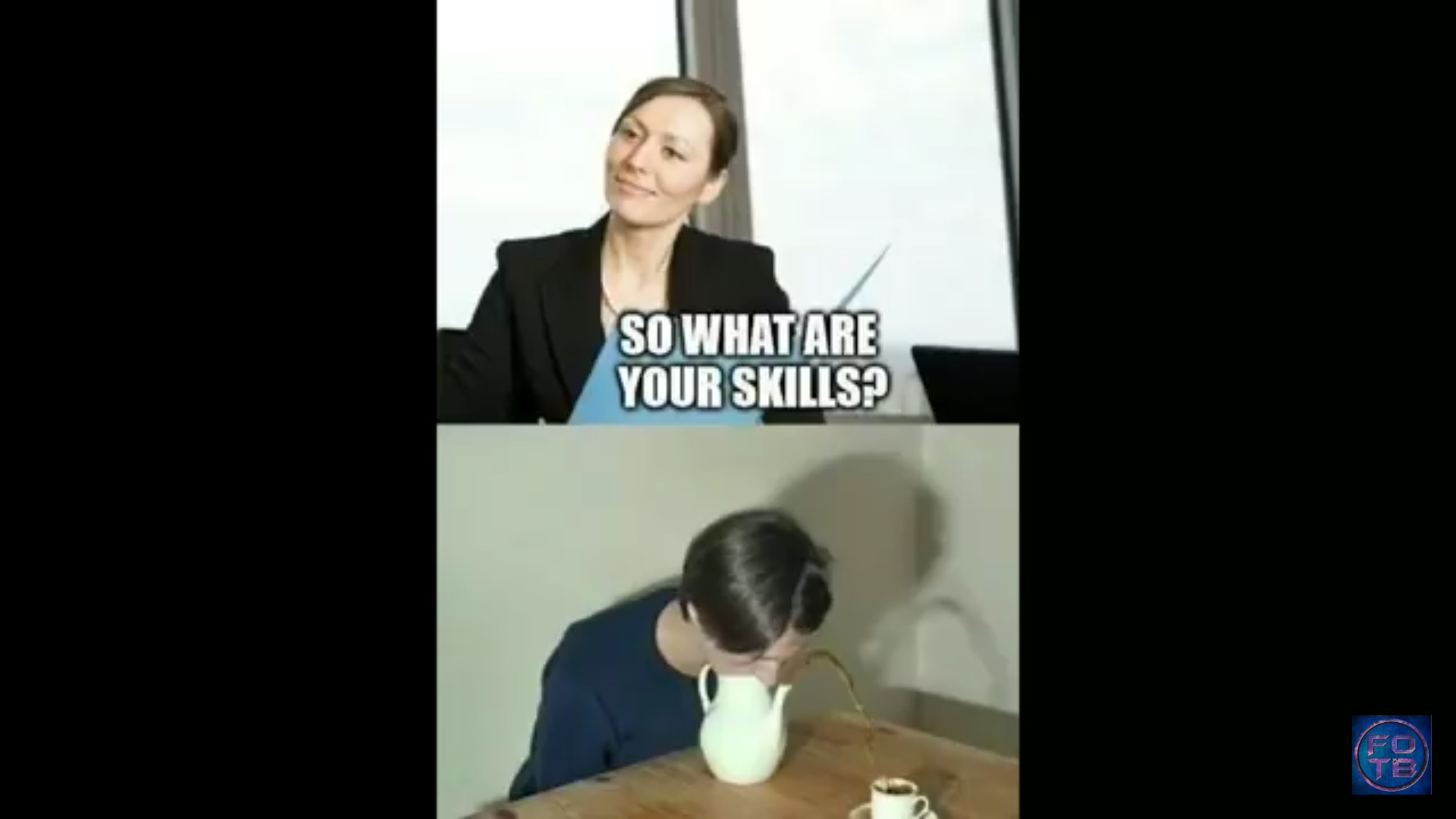 Job interview be liks - meme
