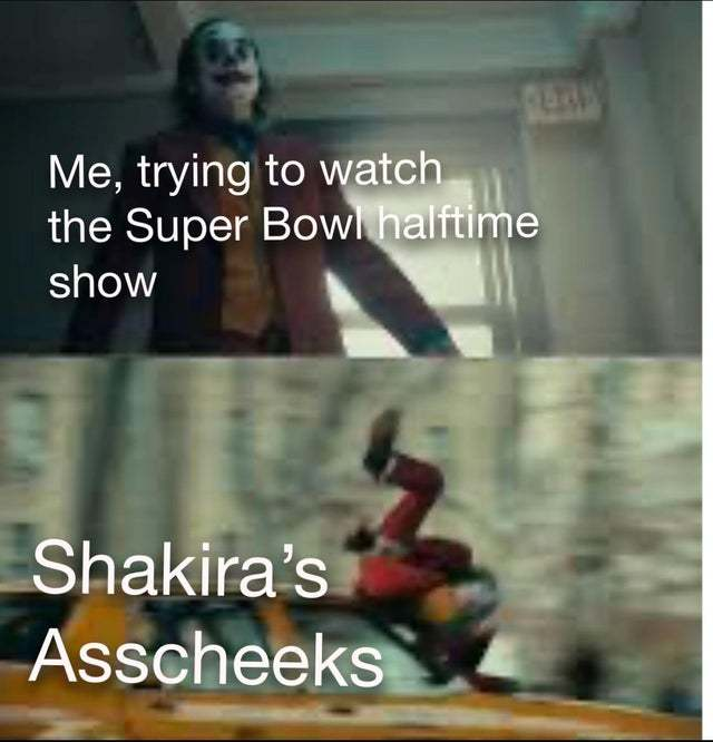 Me trying to watch the Super Bowl halftime show - meme