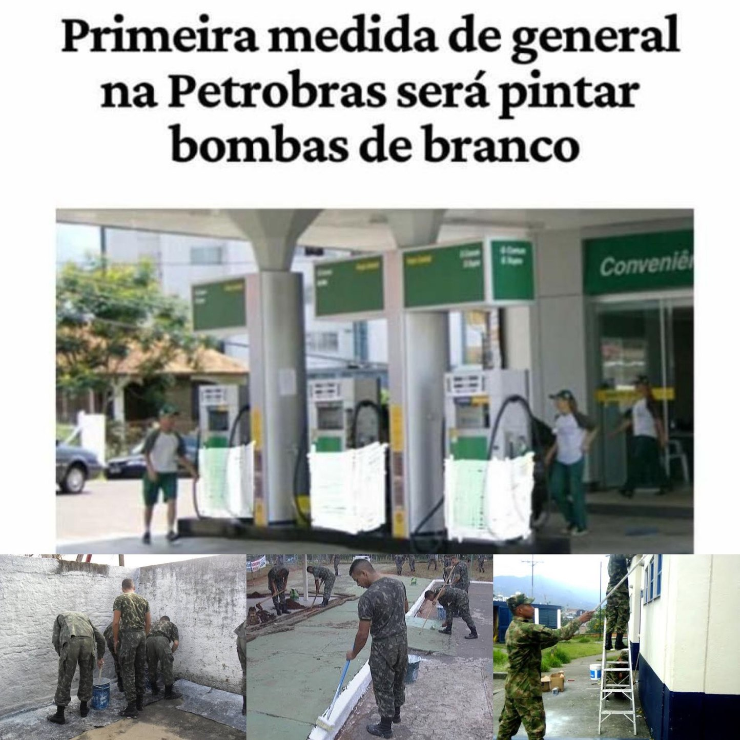 general na Petrobras - meme