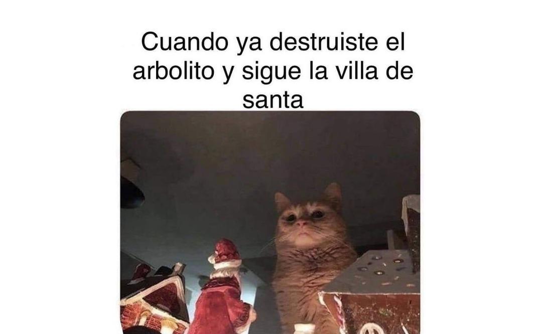 F por papá Noel - meme