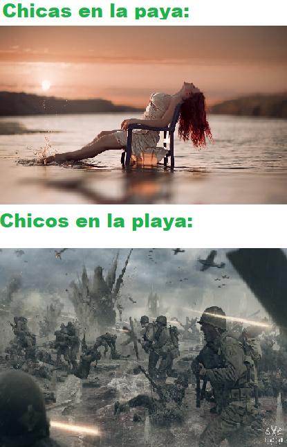 Meme de playa