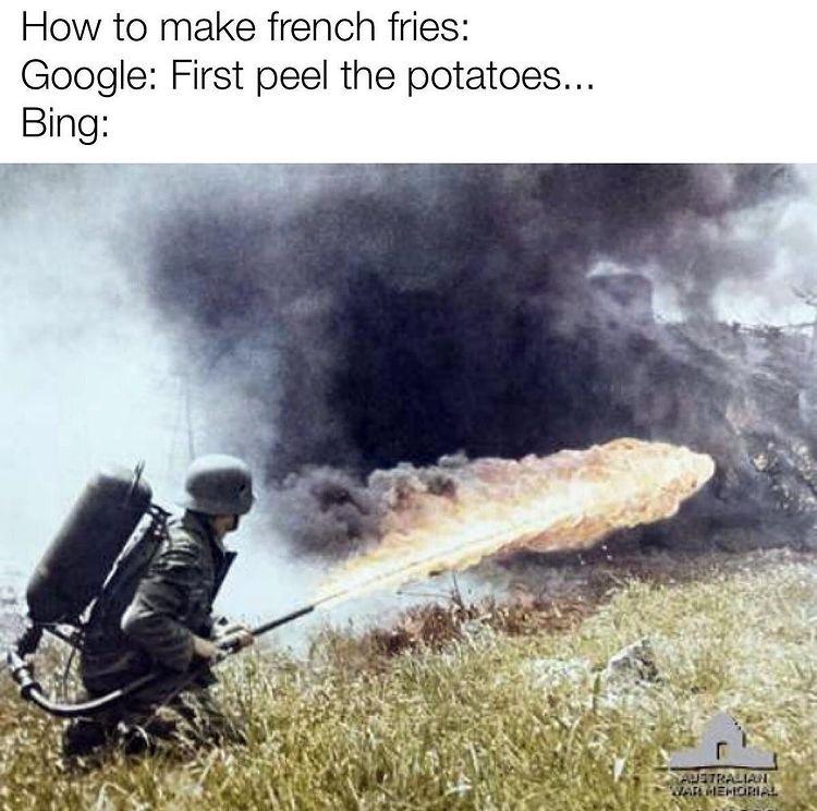 flamethrower - meme