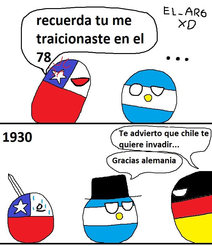 Invasion chilena sobre argentina que alemania advirtio 1930 - meme