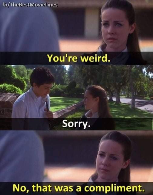Get weird - meme