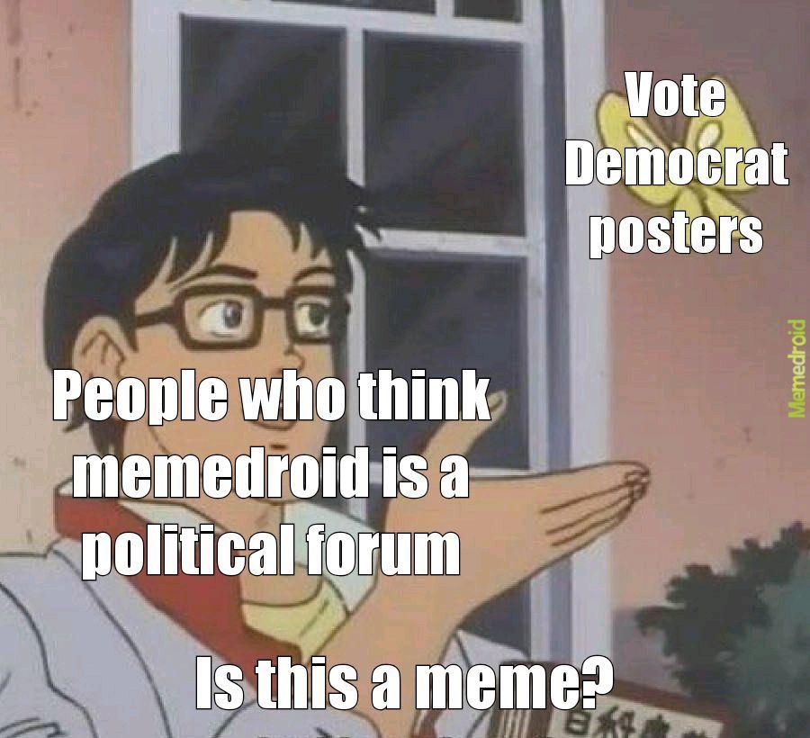 Stop politics - meme