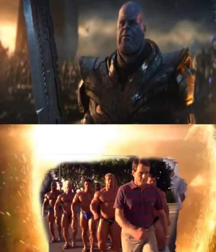 Ese Hal y su legión de hombres musculosos era la mamada - meme