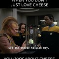 cheese on a starship