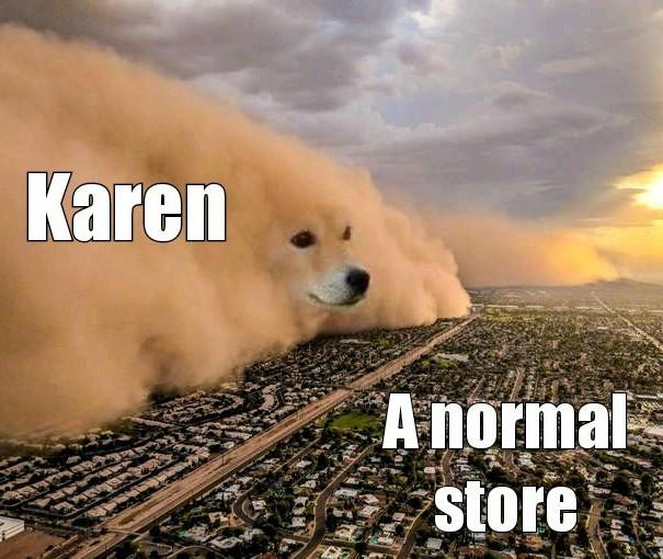 Karen sucks - meme