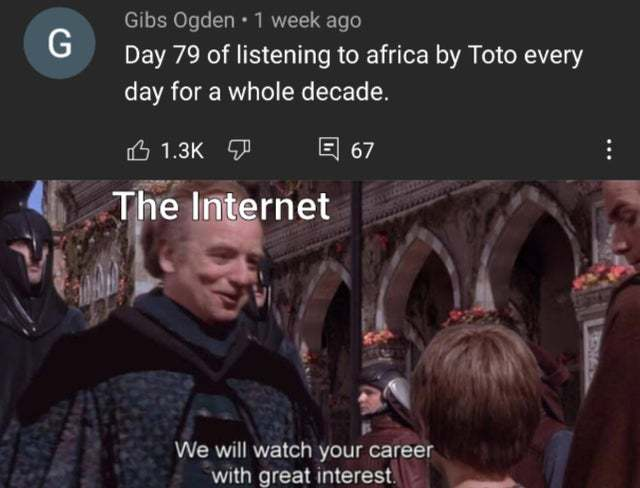 We must keep tabs on the chosen one - meme