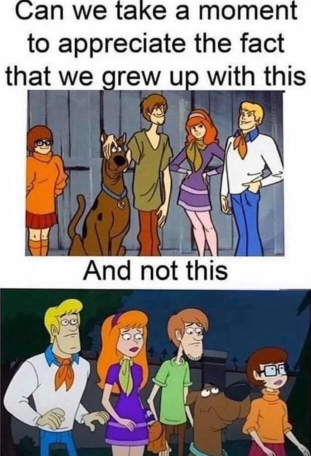 Scooby doo character designs - meme