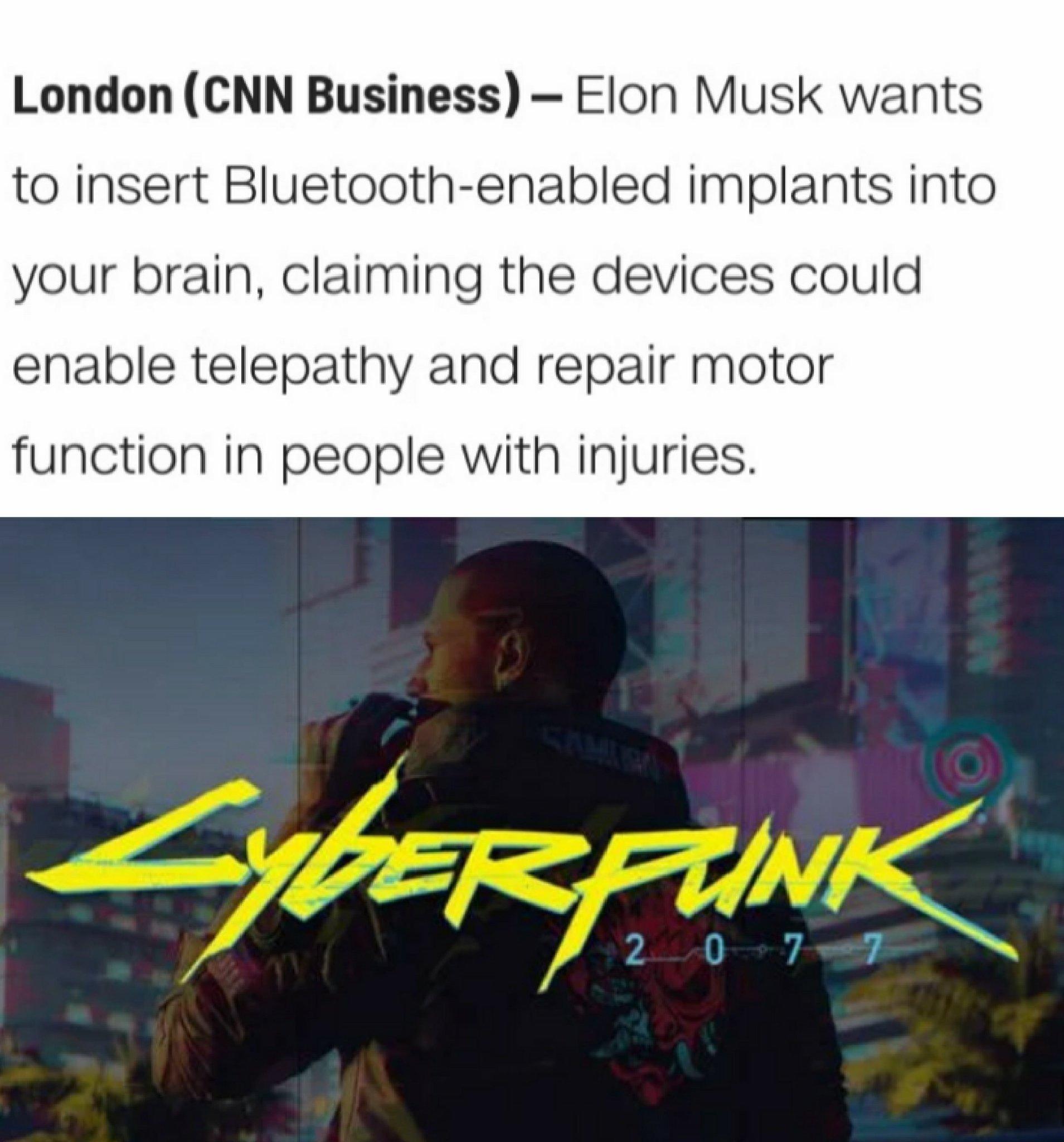 We'll be living 2077 in 2030 - meme