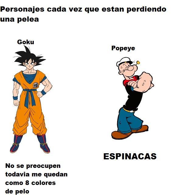 Dragon Ball : semillas del ermitaño Popeye:ESPINACAS - meme
