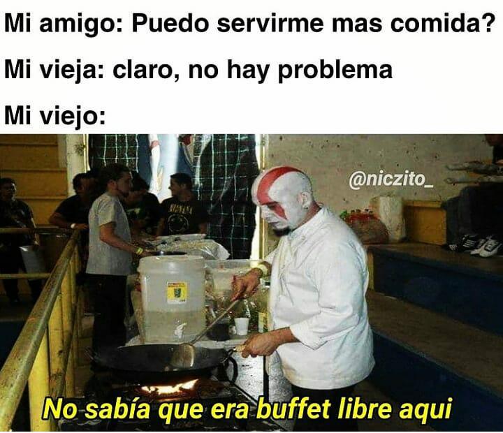 Kratos cocinando :o - meme