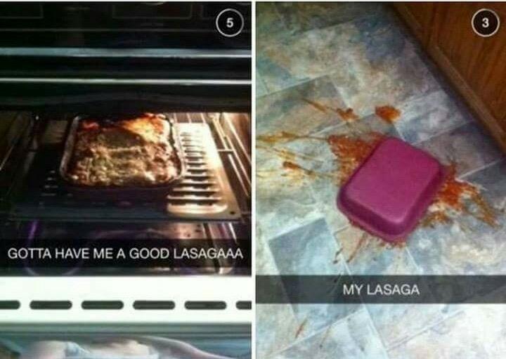 NOT THE LASAGA - meme