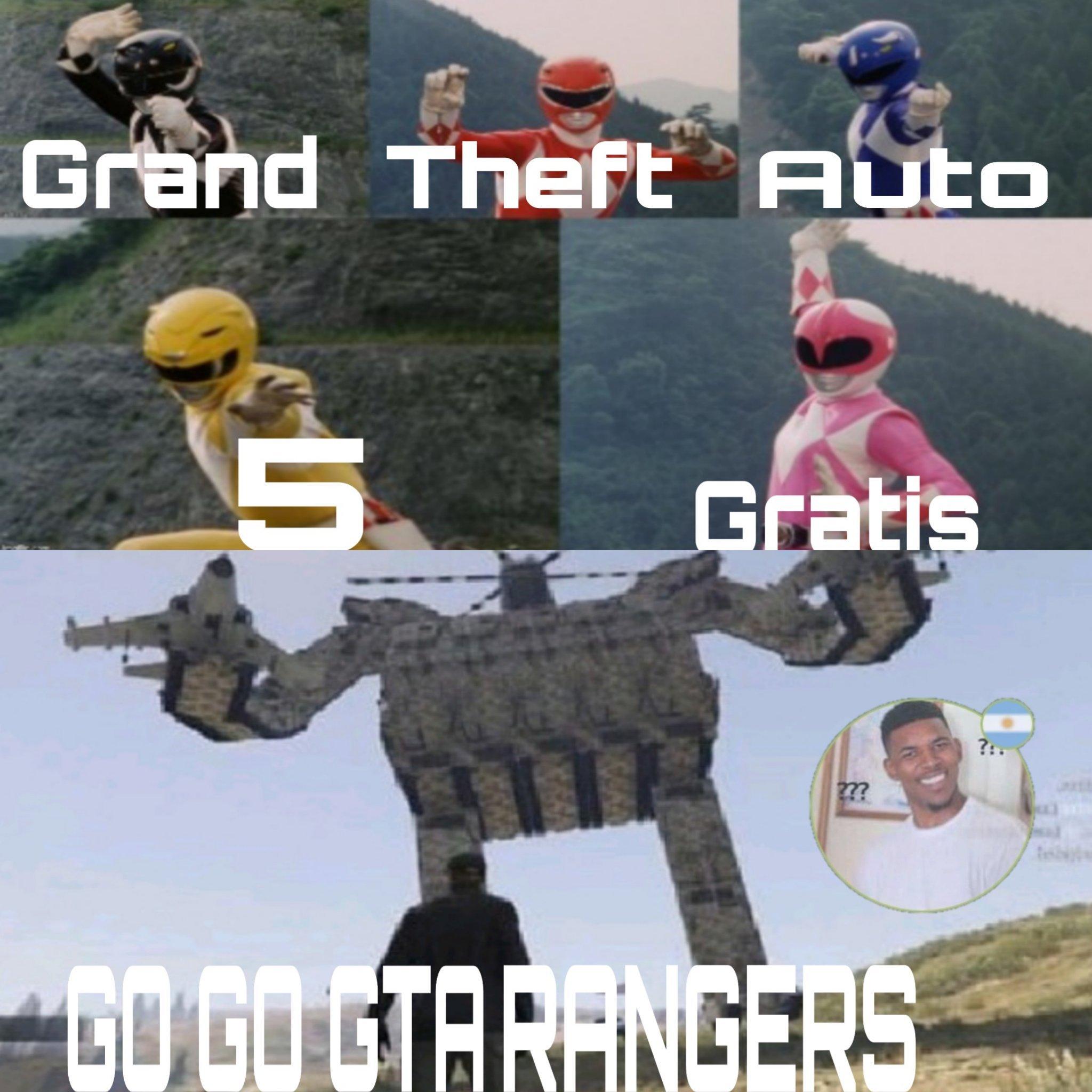 GO GO GTA RANGERS - meme