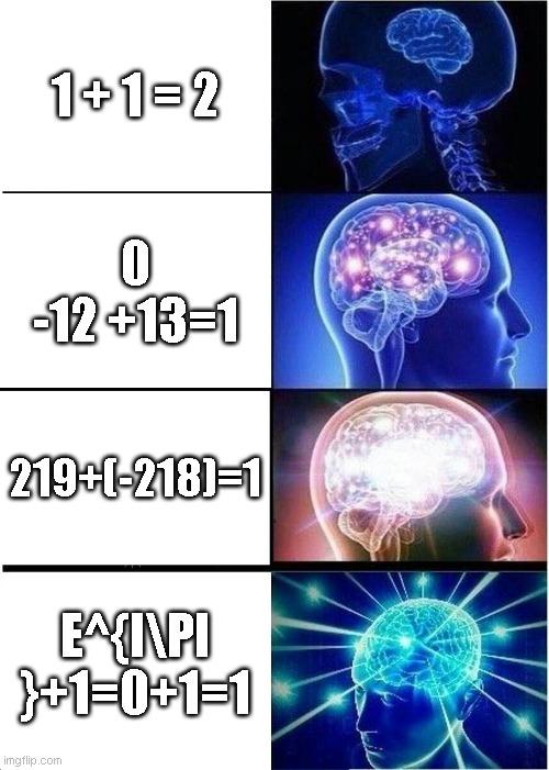me equivoque en la primera era 2-1=1 - meme