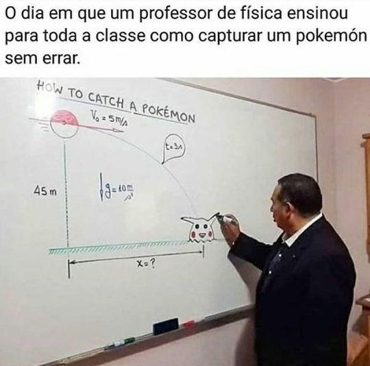 Nunca tive esse tipo de professor - meme
