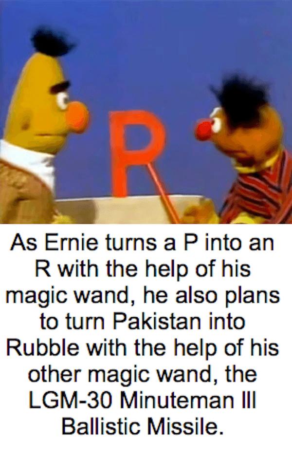Pakistan-------->Rubble - meme