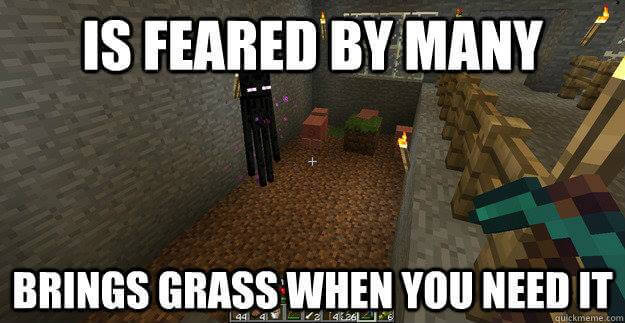 Minecraft Ender man be like - meme
