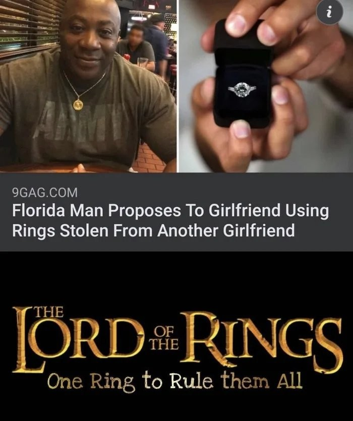 One ring to bring them all - meme