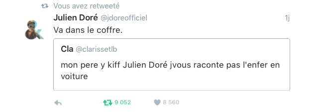 Rekt by Julien Doré - meme