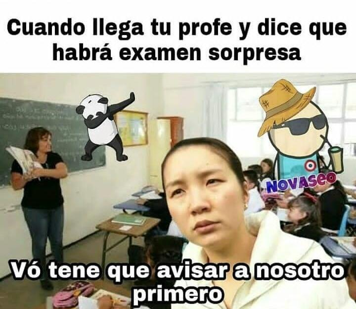 Profesor feo :'v - meme