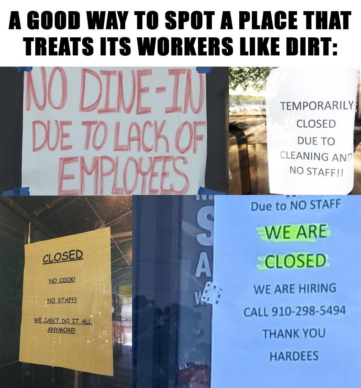 if you can't pay a living wage, you don't deserve to be in business - meme