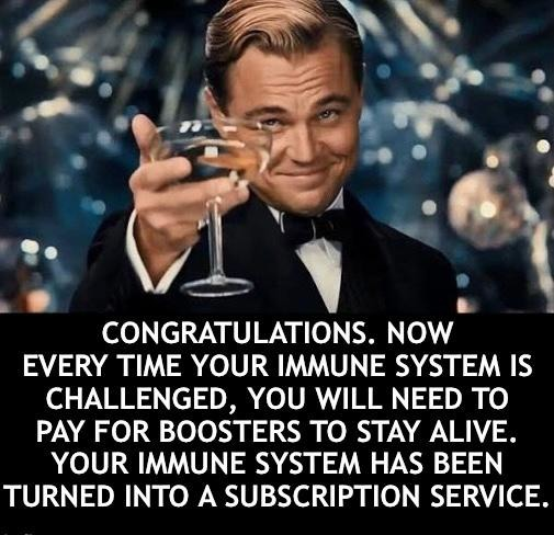 Your liberal coworker is bragging they got a booster shot? Tell them congratulations! - meme