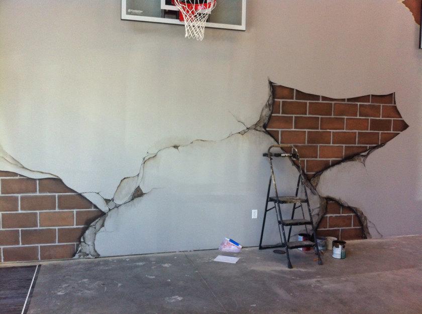 Basketball court paint skills - meme