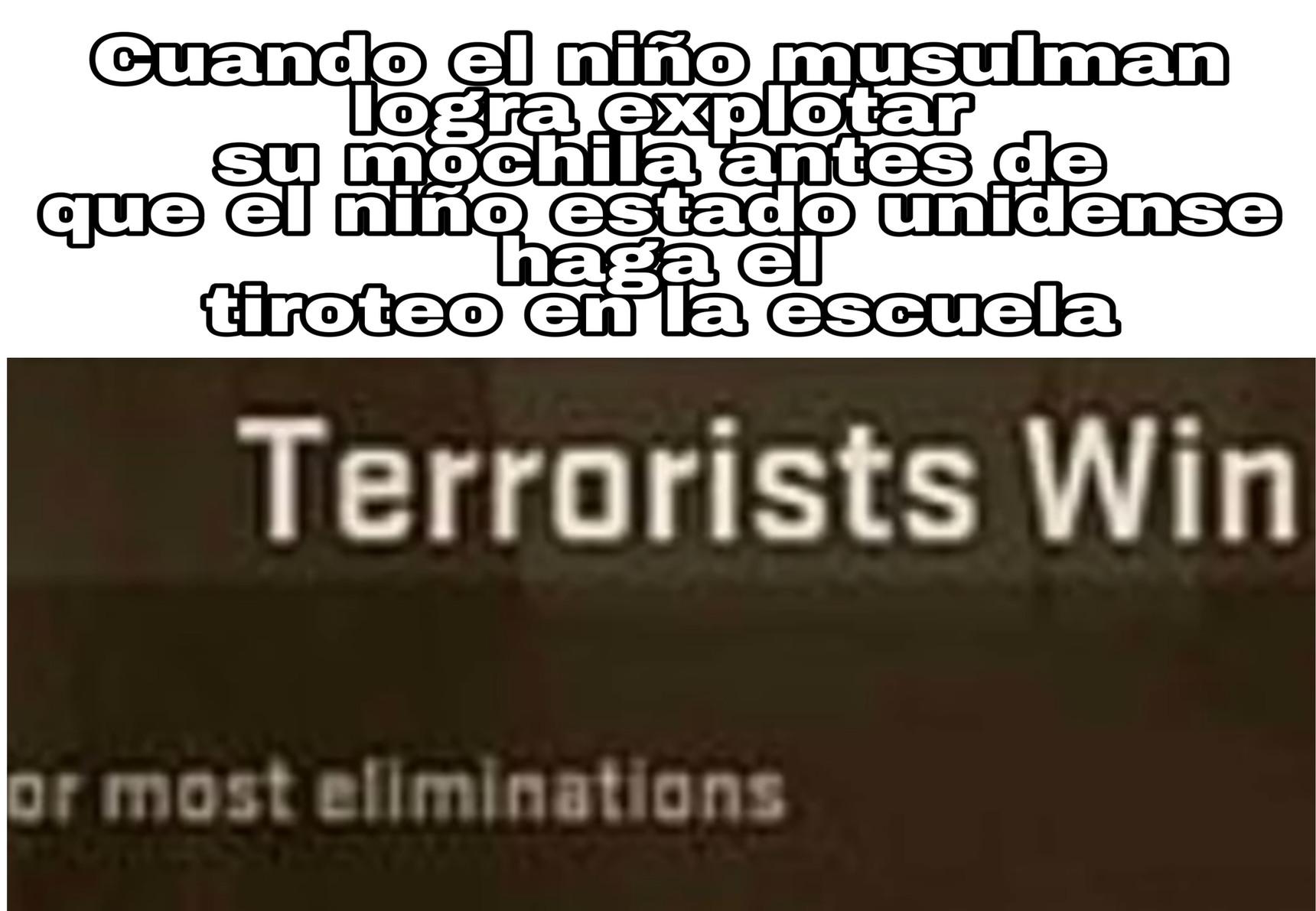 Terrorist wins - meme