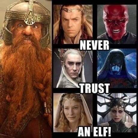 Always trust a hobbit - meme