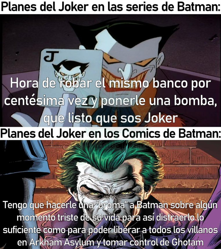 pero el batman que rie mato mas :son: - meme