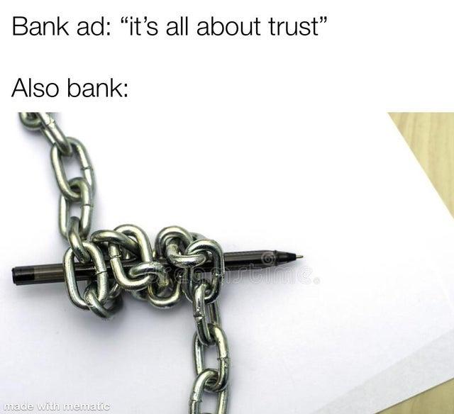 Banking ads - meme