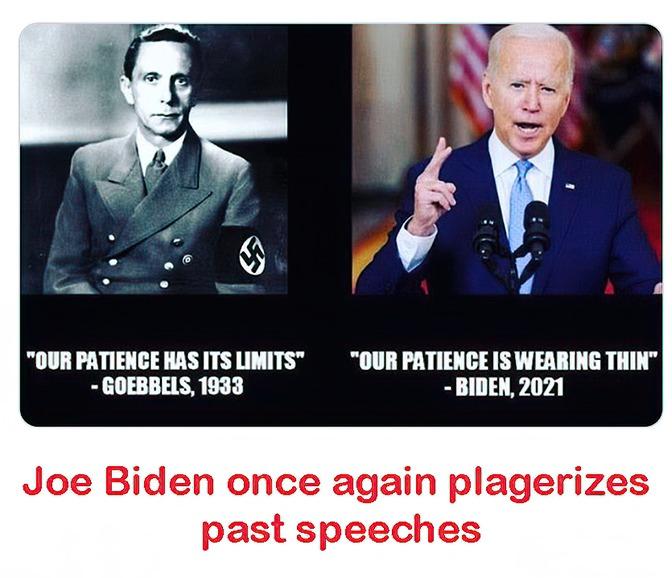 Joe is still stealing speeches - meme