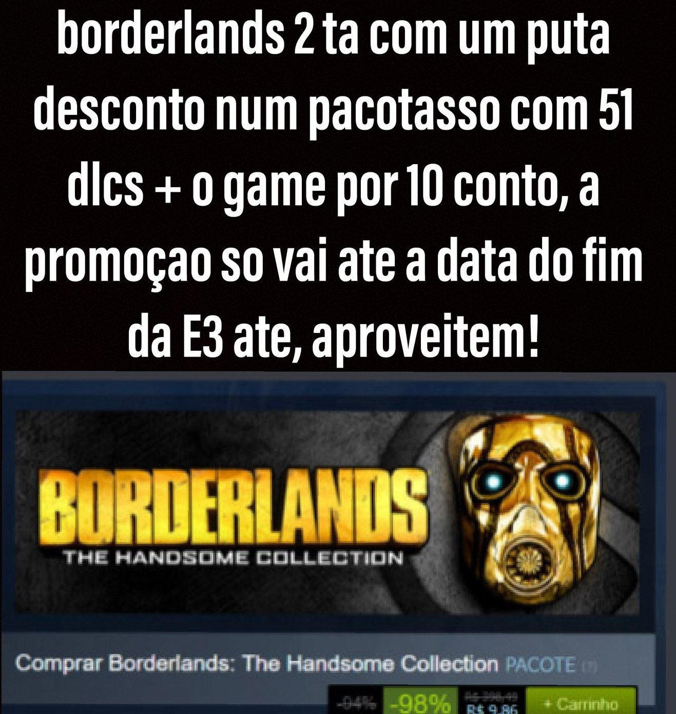 Ta la na steam, ate dia 14 - meme
