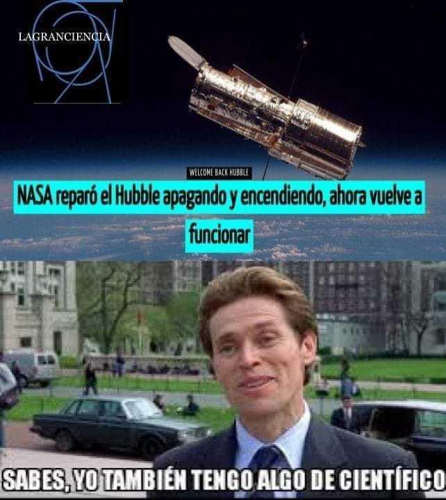 Los de la NASA no solo son científicos, también son ingenieros - meme