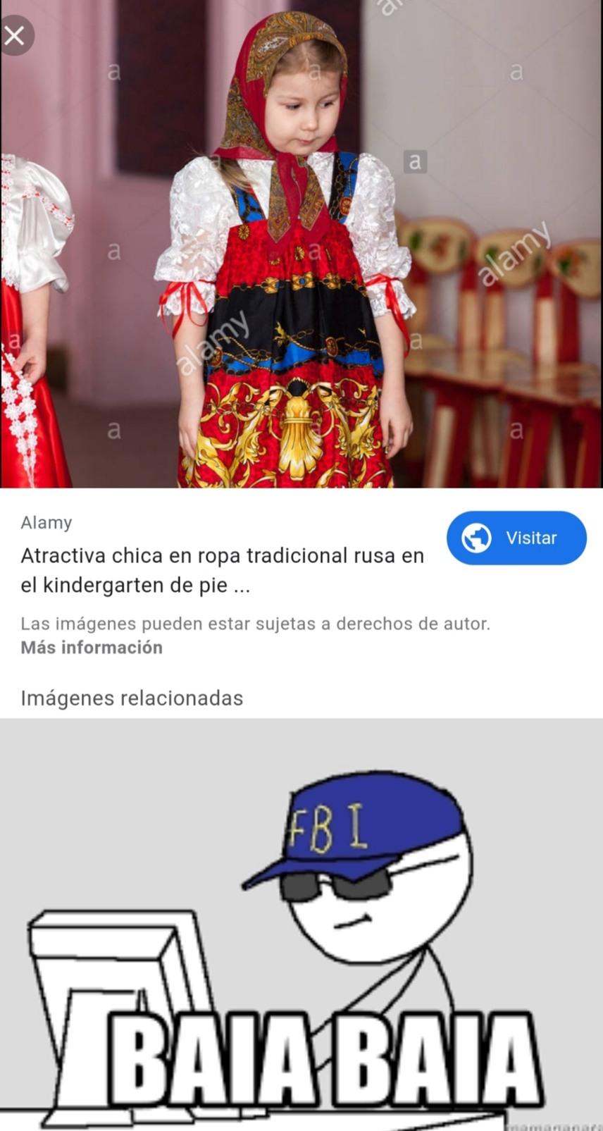 Busquen ropa tradicional rusa y les aparecerá esta imagen - meme