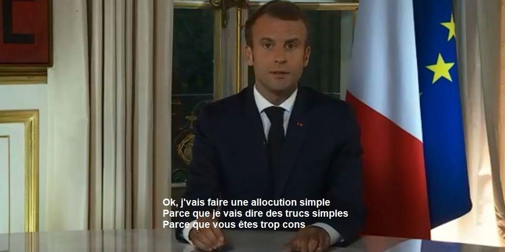 Ce que j'ai compris du discours de Macron - meme