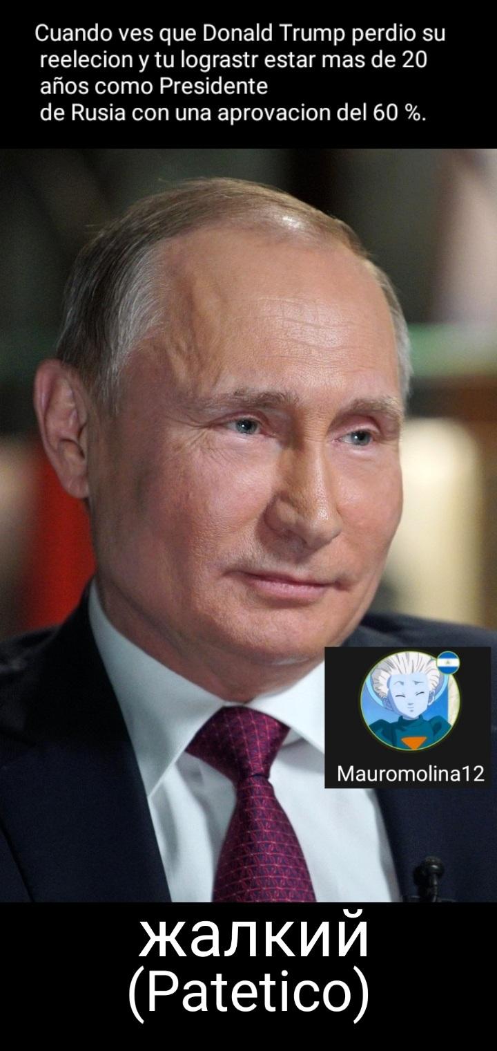 A Putin no lo vence la izquierda. - meme