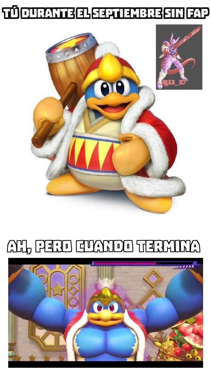 Rey Dedede, el estrangulador de gansos - meme