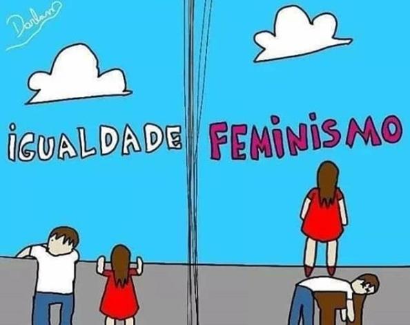 """Feminismo não é uma """"luta por igualdade"""". Nunca foi. - meme"""