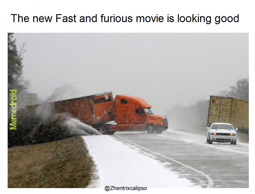 Drifting truck - meme