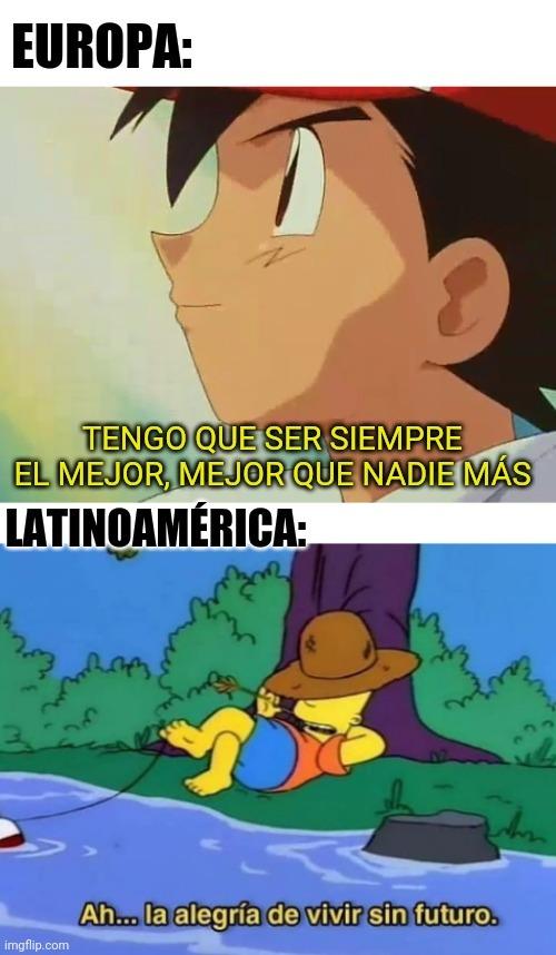 Europa gud but Latinoamérica bad - meme