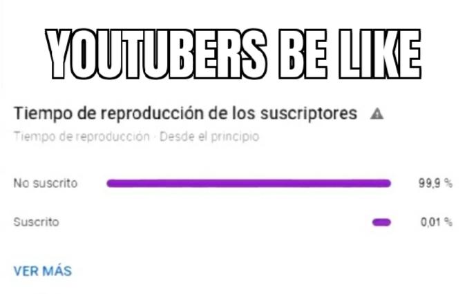 Youtubers be like - meme