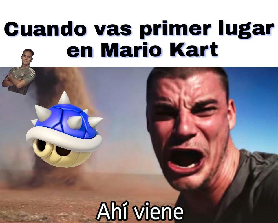 Por eso amo Mario Kart - meme